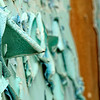 Paint peeling macro of abandoned Forest Haven Asylum - a color image- a color image