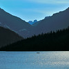 Glacier silhouettes in the Two Medicine area of Glacier National Park - a color image