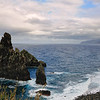 Volcanic rock at Ribeira da Janela on the island of Madeira - a color image