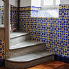 Ceramic tile of a church interior on the island of Madeira - a color image
