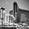 Wide view of Mandalay Bay Hotel - a black-and-white infrared image