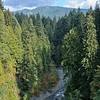 Aerial view of Capilano River in Vancouver, Canada - a color image