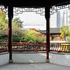 Chinese garden balcony view of Vancouver, Canada - a color image