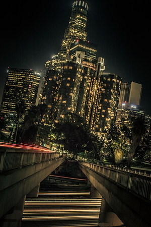 Downtown Los Angeles at Night Study #2