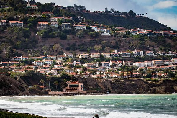 Palos Verdes, CA as seen from Torrance Beach.