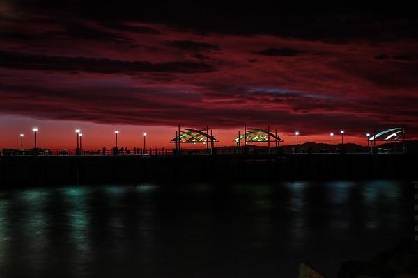 Redondo Beach Pier - Red Sunset