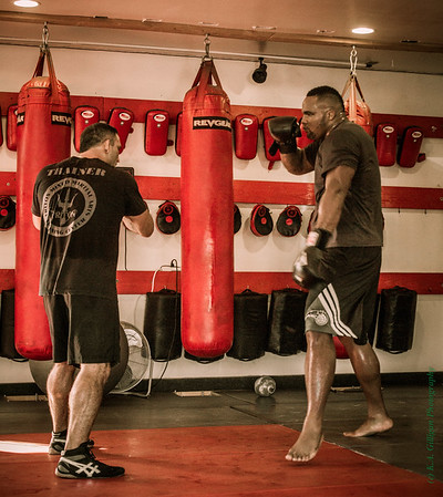 "Glen ""Big Baby"" Davis (LA Clippers) trains in MMA with John ""the Bull"" Marsh."
