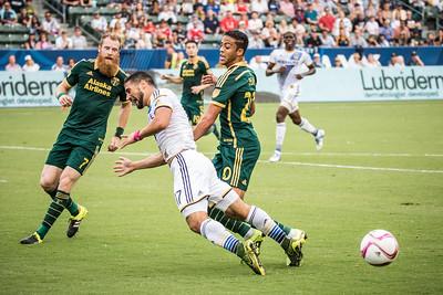 FOUL! Los Angeles Galaxy vs. Portland Timbers