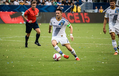 Robbie Keane of the Los Angeles Galaxy in action.