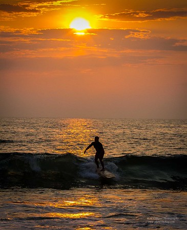 Sunset rider Torrance Beach