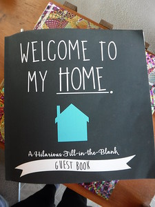 Fun guest book for the AirBnB house