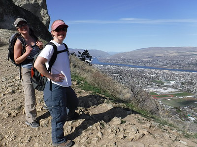 It was short but steep, resulting in some unexpectedly spectacular views from the top.  Take that, Maryland.  Columbia River in the background, just below the confluence with the Wenatchee.