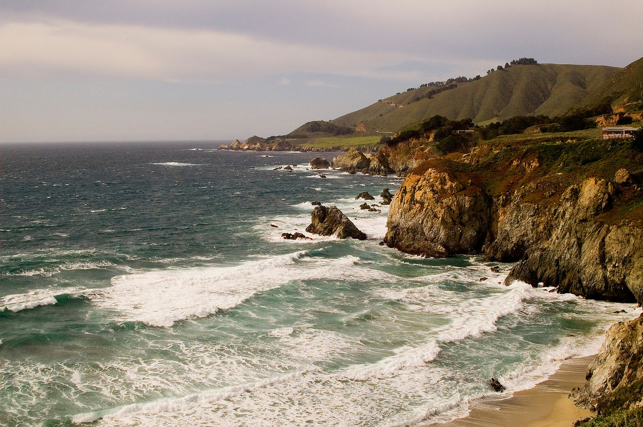 Big Sur, mid afternoon on a spring day.