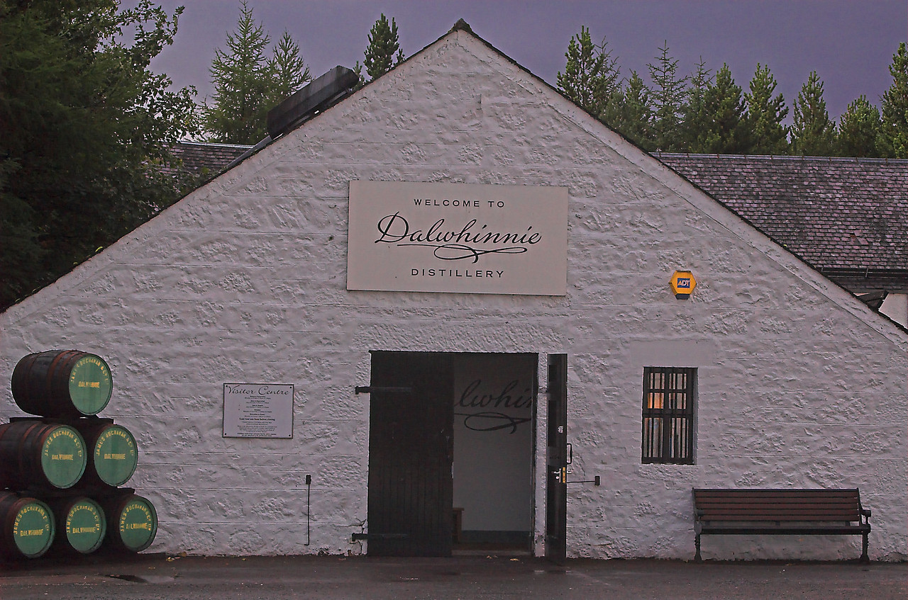 Entry to the tasting room of Dalwhinnie distillery.  Come prepared to enjoy a hearty sample of some of the Highlands finest.