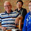 Fr. John, our newly retired novice master, enjoys a smile.
