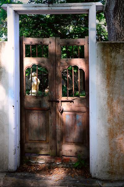 St Augustine Garden gate 6345