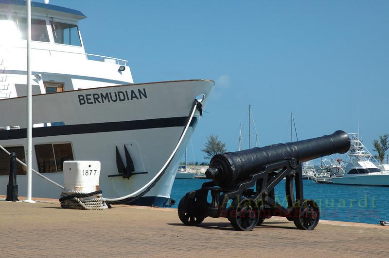 Canon on the dock. Dockyard, Bermuda.