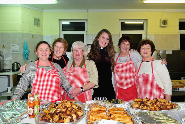 Dining Room Volunteers: L to R: Veronica O'Gorman, Rosie Breen, Dora O'Toole, Vicar Asa Bjork, Rhona Devoy and Rose Geoghegan.<br /> Photograph: Margaret Brown<br /> 'A feast of music in the Dining Room' took place in Dun Laoghaire Evangelical Church (DEC) on Lower Glenageary Road, Wednesday 18 November 2015. The music programme started at 7.30pm followed by buffet food generously supplied by local restaurants. The event featured Il Coro Italiano di Dublino, Rhapsody choral group and the wonderful Kathy Nugent, contralto. This was a fund raising event for The Dining Room, which is an inter-church venture aimed at serving the homeless, providing food and social interaction. It's been in operation since February 2014. For further information contact Vicar Asa on: rector.asa.bjork@gmail.com.