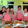 Dining Room Volunteers: L to R: Veronica O'Gorman, Rosie Breen, Dora O'Toole, Rhona Devoy and Rose Geoghegan.<br /> Photograph: Margaret Brown<br /> 'A feast of music in the Dining Room' took place in Dun Laoghaire Evangelical Church (DEC) on Lower Glenageary Road, Wednesday 18 November 2015. The music programme started at 7.30pm followed by buffet food generously supplied by local restaurants. The event featured Il Coro Italiano di Dublino, Rhapsody choral group and the wonderful Kathy Nugent, contralto. This was a fund raising event for The Dining Room, which is an inter-church venture aimed at serving the homeless, providing food and social interaction. It's been in operation since February 2014. For further information contact Vicar Asa on: rector.asa.bjork@gmail.com.