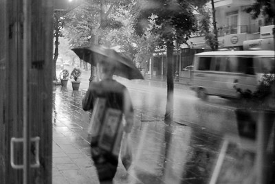Ankara during a morning rainstorm.  One of my favourites.  BW film.