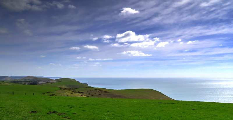The view eastward along the Purbeck coast