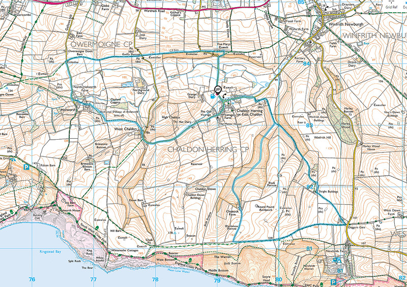 The actual route walked.   We started on the right loop walking it in a clockwise direction, and completed the afternoon section to the left anticlockwise.