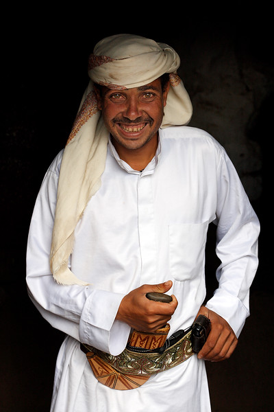 Man from al-Hijan with local dress.