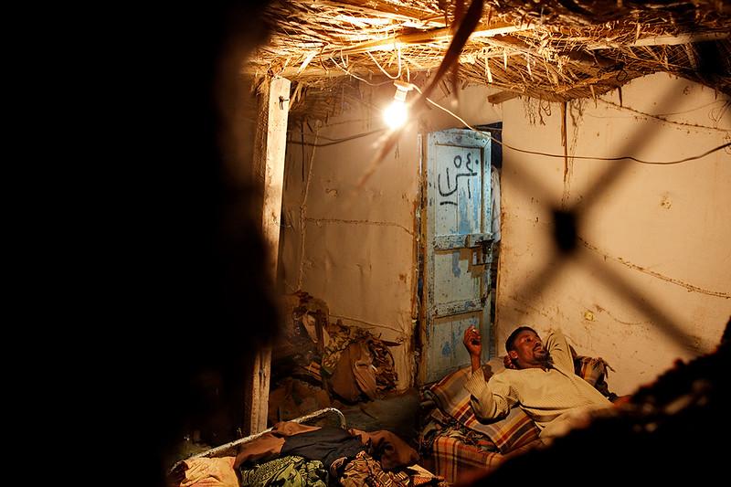 Fishermens house in Bir Ali.