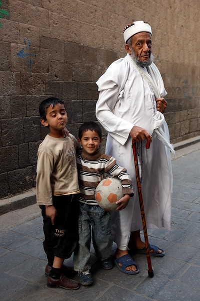 Young boys with a muslim priest (Mullah).