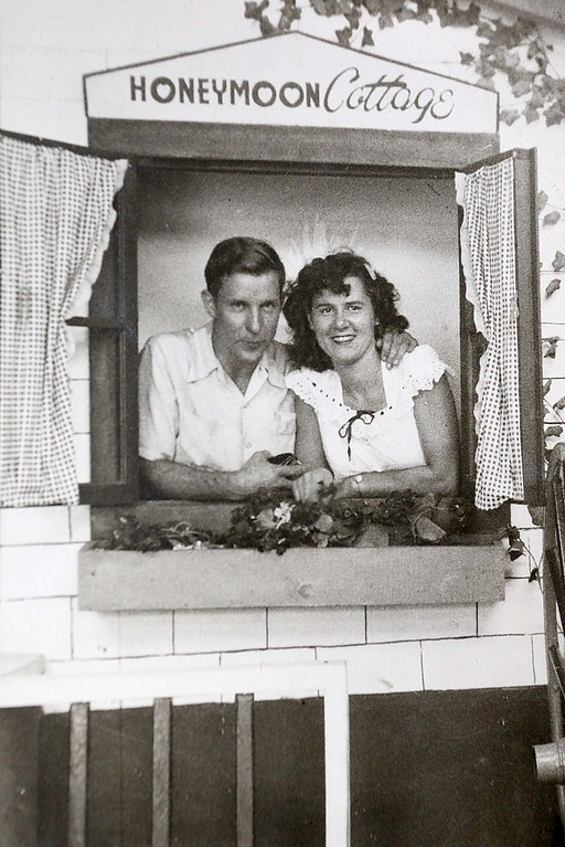 . Harvey Price and Agnes Price on their honeymoon in Atlantic City, New Jersey in September of 1950. SENTINEL & ENTERPRISE/JOHN LOVE