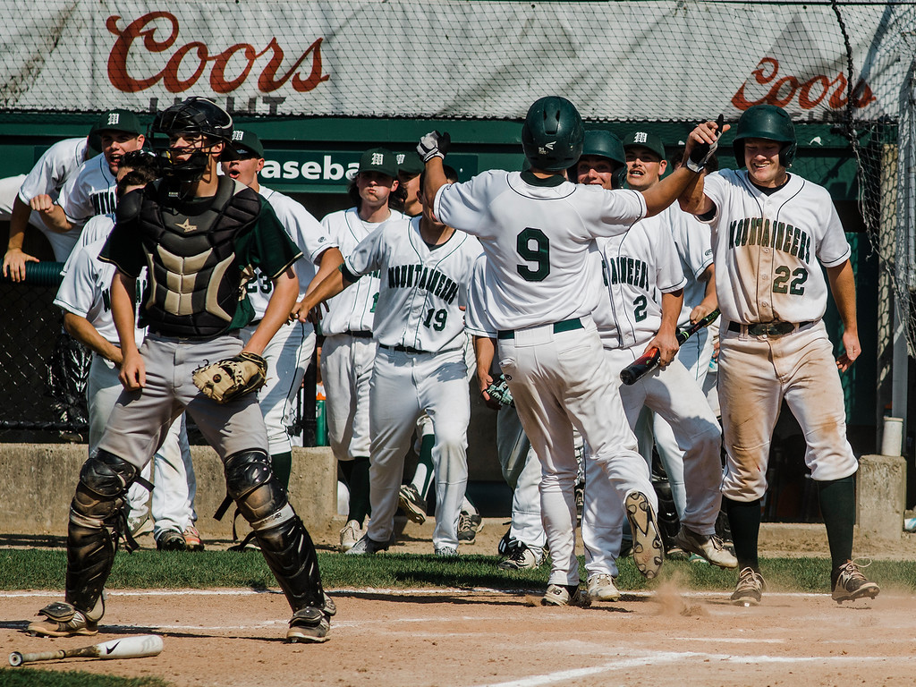 . Wachusett celebrates during the Central Mass. Division 1 championship game against Nashoba at Holy Cross in Worcester on Saturday, June 10, 2017. SENTINEL & ENTERPRISE / Ashley Green