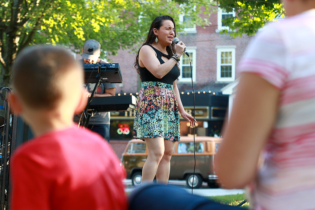 . Augusts Concert on the Upper Common in Fitchburg featured De La High a local Latin/ pop group. Stephnie Rogers was the voice of the group and keep everyone entertained on Wednesday night. SENTINEL & ENTERPRISE/JOHN LOVE