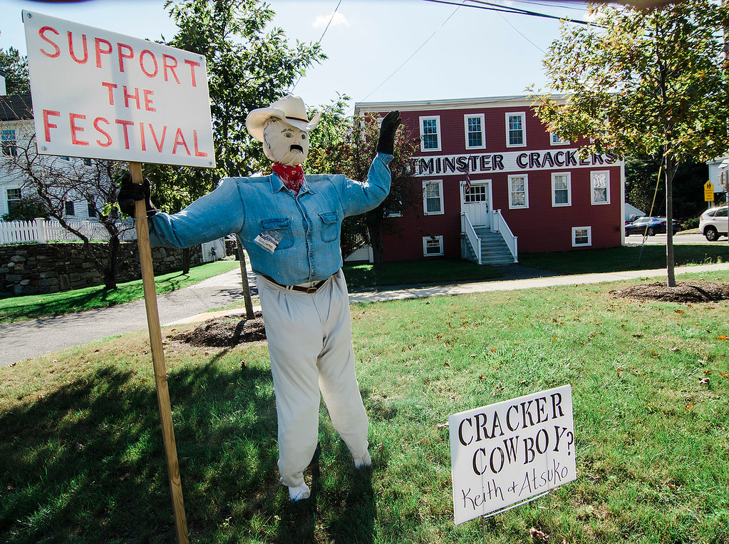 . Scarecrows have started popping up in Westminster to remind residents of the upcoming Westminster Cracker Festival to be held on Saturday, October 21 from 10 a.m. to 5 p.m. SENTINEL & ENTERPRISE  / Ashley Green