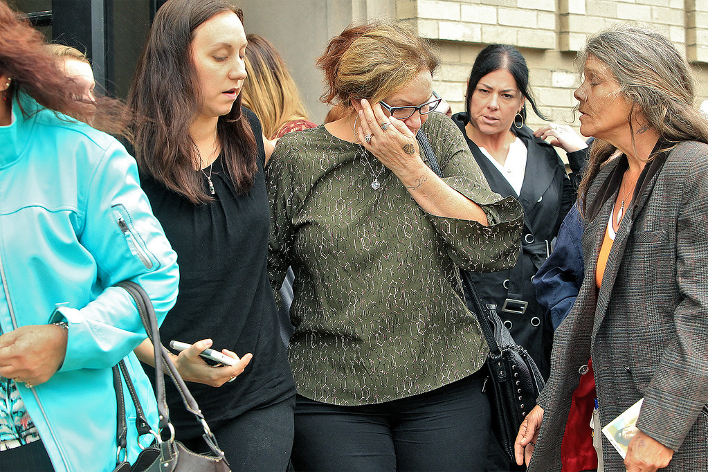 . photo Scott LaPrade - Fortuna\'s mother leaving the courthouse