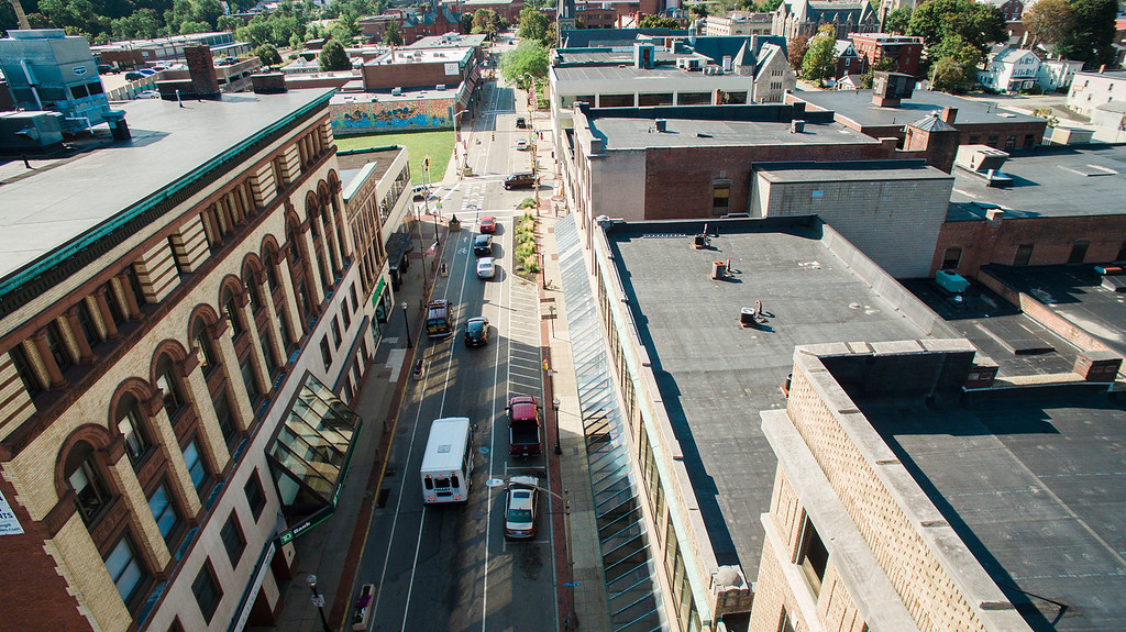 . A survey is being out to Main Street business owners, asking about their most recent opinions about one lane Main Street in Fitchburg, as seen on Tuesday, September 12, 2017. SENTINEL & ENTERPRISE / Ashley Green