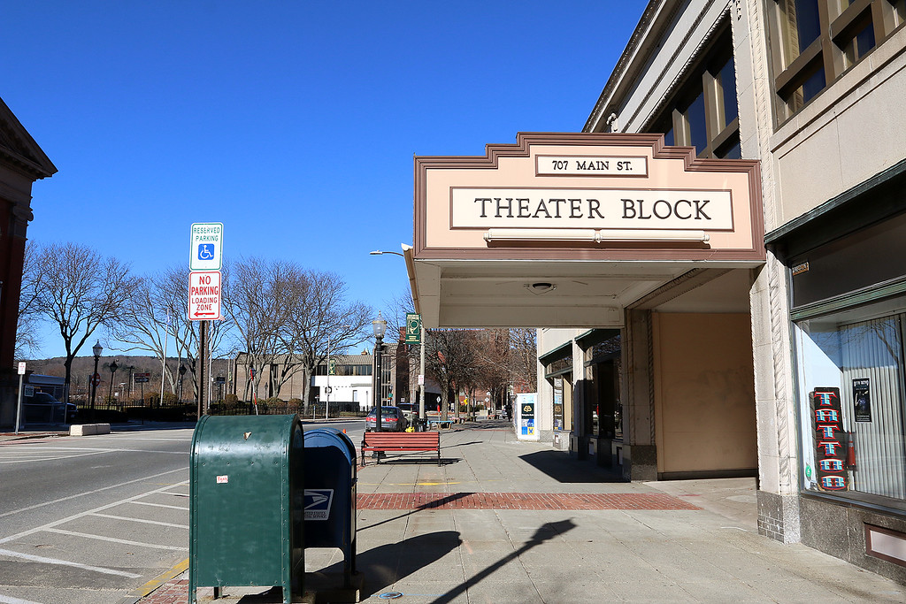 . Fitchburg State University showed off their work on the Theater Block on Main Street in Fitchburg during their phase one of the project Wednesday morning, January 31, 2018. SENTINEL & ENTERPRISE/JOHN LOVE
