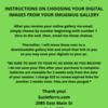 INSTRUCTIONS ON CHOOSING YOUR DIGITAL IMAGES FROM YOUR SMUGMUG GALLERY