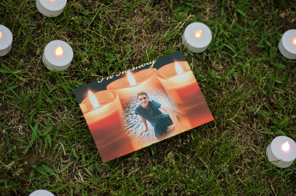 . A vigil was held on Friday evening to memorialize Joey Perez, the 17-year-old bicyclist who died from his injuries after colliding with an SUV last week in Fitchburg. SENTINEL & ENTERPRISE / Ashley Green