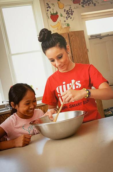 Girls Inc. teaches cooking.
