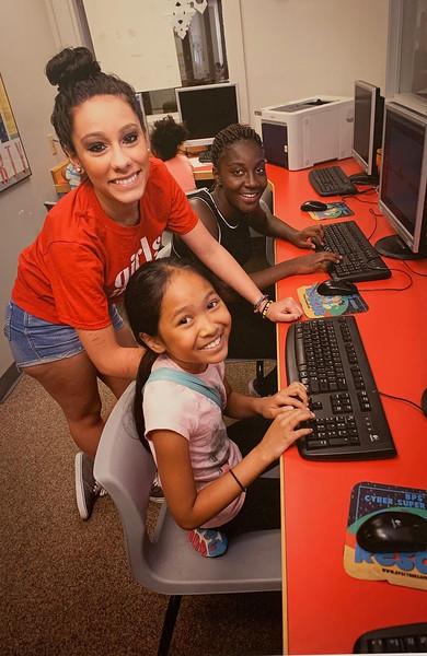 Girls Inc. teaches computer skills.