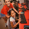 Girls Inc. teaches computer skills.