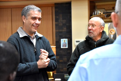 Fr. Carlos Luis visits at the novitiate