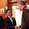 Frater Henry greets Fr. General
