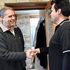 Angel (novice) greets Fr. Carlos Luis