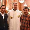 Fr. Sugi, Fr. Carlos Luis and Fr. Hendrik