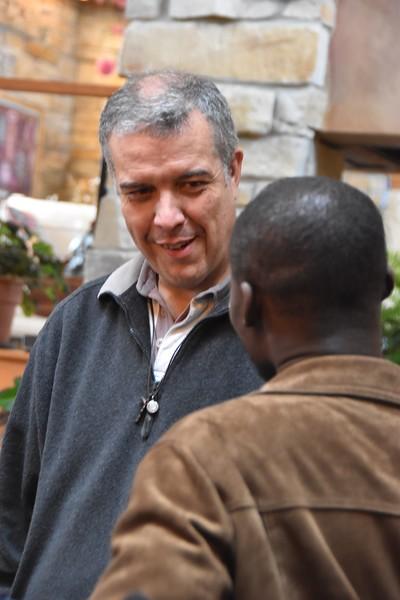 Fr. General visits with Hubert (novice)