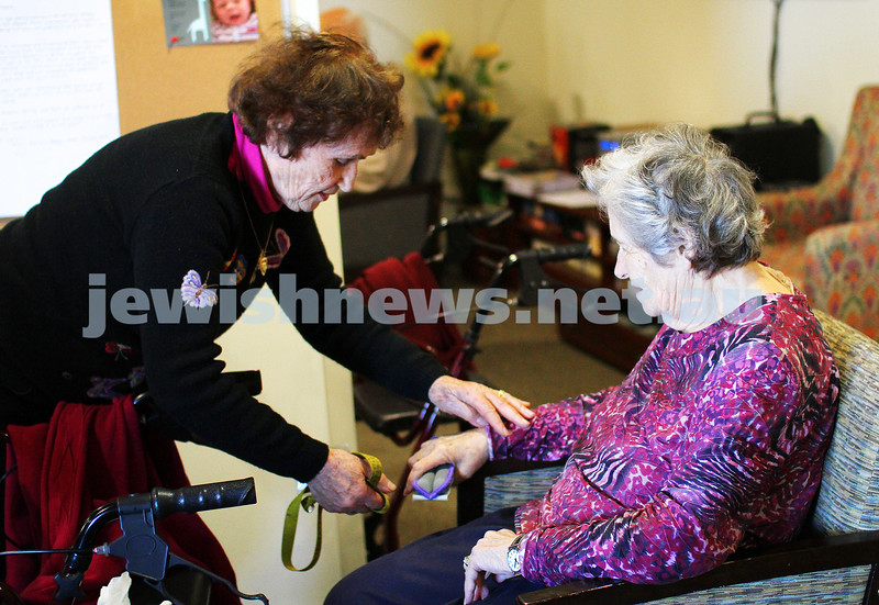 In Focus. 11-7-14. A Week in the Life. Sally Felzen, volunteer at Emmy Monash, Aged Care. Photo: Peter Haskin