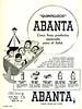ABANTA Diverse 1959 Argentina <br /> ''Quintillizos' Abanta - Cinco finos productos especiales para el bebé'