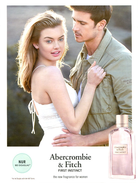 ABERCROMBIE & FITCH First Instinct for Women 2017 Germany (Douglas stores) 'Nur bei Douglas -  The new fragrance for women'