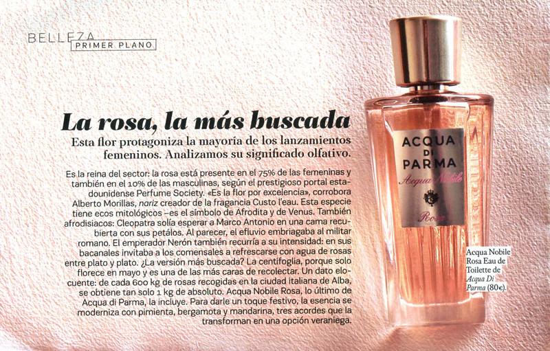 ACQUA DI PARMA Acqua Nobile Rosa 2015 Spain half page (advertorial SModa) 'La rosa, la más buscada'